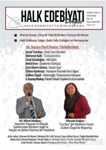 Halk Edebiyatı Dergisi Sayı :36 / Mayıs-Haziran 2020