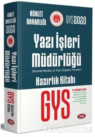 2020 GYS Adalet Bakanlığı Yazı İşleri Müdürlüğü Hazırlık Kitabı