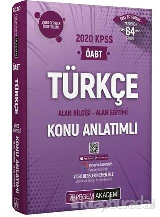 2020 KPSS ÖABT Türkçe Video Destekli Konu Anlatımlı