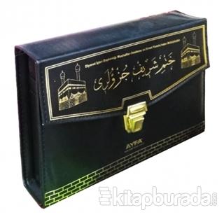 30 Cüz Kur'an-ı Kerim Orta Boy Çantalı Ayfa234 Siyah Kabe