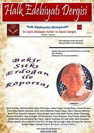 Halk Edebiyatı Dergisi Sayı: 1 Haziran-Temmuz 2014