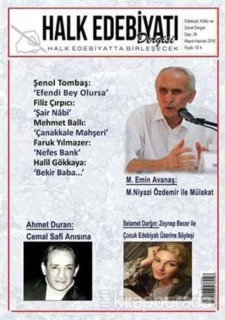 Halk Edebiyatı Dergisi Sayı: 24 Mayıs-Haziran 2018