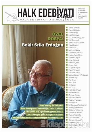 Halk Edebiyatı Dergisi Sayı: 3 Kasım-Aralık 2014