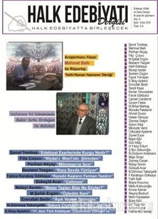 Halk Edebiyatı Dergisi Sayı: 8 Eylül-Ekim 2015