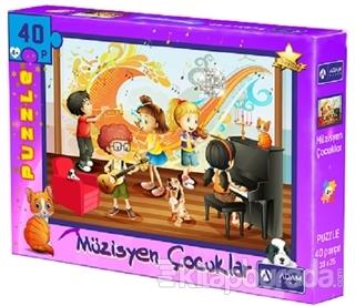Müzisyen Çocuklar 40 Parça Puzzle